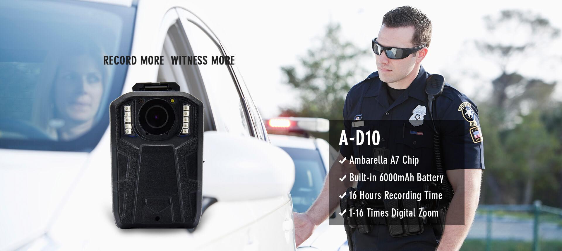 6000mAh Battery Body Camera