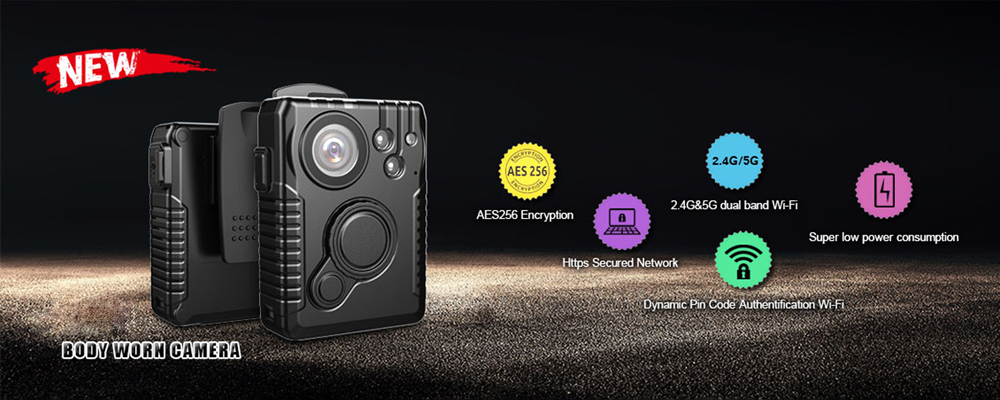 NEW ITEM: Ambarella A12 AES256 Police Wi-Fi Body Camera
